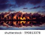Amazing Sunset Sky With...