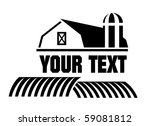 vector illustration of barn and ... | Shutterstock .eps vector #59081812