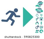 exit direction pictograph with... | Shutterstock .eps vector #590825300
