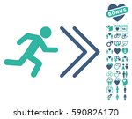 exit direction pictograph with... | Shutterstock .eps vector #590826170