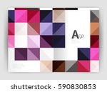 minimalistic square brochure or ... | Shutterstock .eps vector #590830853
