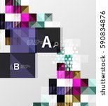 vector square elements on gray... | Shutterstock .eps vector #590834876