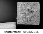 square wooden cut black and... | Shutterstock . vector #590837216