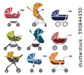 set of isolated variety of baby ... | Shutterstock .eps vector #590844350