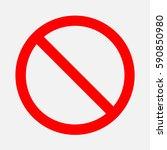 sign ban. | Shutterstock .eps vector #590850980