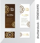 thai vintage invitation card | Shutterstock .eps vector #590854490