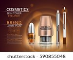 cosmetic skin toner  nail... | Shutterstock .eps vector #590855048
