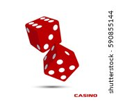 Pair Of Red Casino Dice...