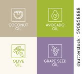 vector set of packaging design... | Shutterstock .eps vector #590858888