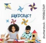Childhood Leisure Hobby Imagination Concept - Fine Art prints
