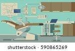 dentist office vector... | Shutterstock .eps vector #590865269