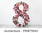 8 march flowers | Shutterstock . vector #590875043