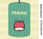 vector outline radish vegetable ... | Shutterstock .eps vector #590882888