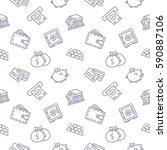 finance seamless pattern... | Shutterstock .eps vector #590887106