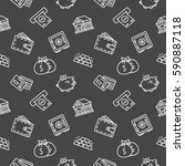 finance seamless pattern... | Shutterstock .eps vector #590887118