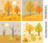 pictures about an autumn | Shutterstock .eps vector #59089651