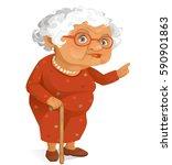 grandmother | Shutterstock .eps vector #590901863