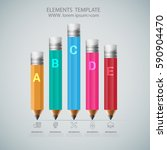 infographic template with...   Shutterstock .eps vector #590904470