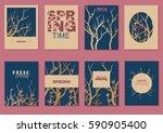 hello spring | Shutterstock .eps vector #590905400