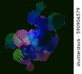 abstract vector background dot... | Shutterstock .eps vector #590906579
