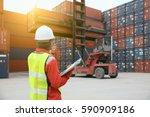 foreman control loading...   Shutterstock . vector #590909186