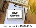 submit nomination concept on... | Shutterstock . vector #590909324