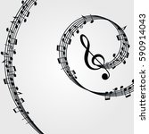 music  background  melody ... | Shutterstock . vector #590914043