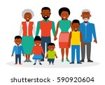 a big happy family. african... | Shutterstock .eps vector #590920604