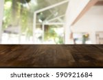 wooden board empty table in... | Shutterstock . vector #590921684