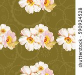 seamless pattern with white... | Shutterstock .eps vector #590924528