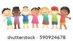 chlidren friendship 01 | Shutterstock .eps vector #590924678