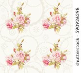 seamless floral pattern with... | Shutterstock .eps vector #590926298
