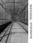 steel gate walkway. walkway... | Shutterstock . vector #590931440