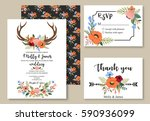 wedding graphic set in the... | Shutterstock .eps vector #590936099