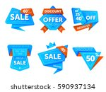 special offer sale tag discount ... | Shutterstock .eps vector #590937134
