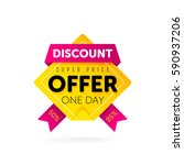 discount tag with special offer ... | Shutterstock .eps vector #590937206