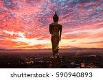 Buddha Statue Standing At Wat...