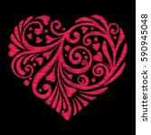 embroidery. embroidered design... | Shutterstock .eps vector #590945048