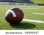 closeup of american football on ... | Shutterstock . vector #59094547