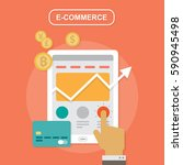 e commerce  strategy flat vector