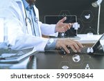 medical technology concept.... | Shutterstock . vector #590950844