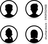 people icons | Shutterstock .eps vector #590950988