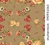 flower tulip watercolor in a... | Shutterstock . vector #590951063