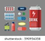 sport nutrition icon in flat... | Shutterstock .eps vector #590956358