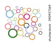 colorful circles on white... | Shutterstock . vector #590957369