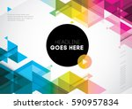 Vector of abstract geometric pattern and background | Shutterstock vector #590957834