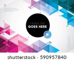 vector of abstract geometric... | Shutterstock .eps vector #590957840