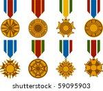 Vector Set Of War Medals
