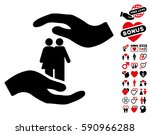 people care hands icon with... | Shutterstock .eps vector #590966288