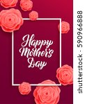 happy mothers day lettring... | Shutterstock .eps vector #590966888